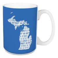 Show off your state pride and support your local football team with thisFranck Go Detroit Coffee Mug. This exclusive design and large handles for easy gripping. This is a great gift for football fans.