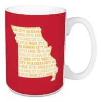 Show off your state pride and support your local football team with this Franz Go Kansas City Coffee Mug. This exclusive design and large handles for easy gripping. This is a great gift for football fans.