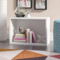 Clear clutter from any room without breaking the bank with this clean-lined cube unit. Crafted from paperboard, this budget-friendly piece strikes a boxy silhouette measuring just 16'' H x 22.8'' W x 11.2'' D to corral smaller odds and ends. A solid finish helps this design blend with a variety of color palettes and aesthetics. For even more storage space, just stack this cube atop other units (not included). Full assembly is required.