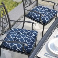 Make sipping coffee or cocktails under the sun even more pleasant by dressing your favorite outdoor perch with this dining chair cushion. Proudly made in the USA, this piece is crafted with a polyester fabric cover that resists mildew and fading. Polyfill within provides 5