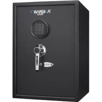 The Large Keypad Safe by Barska features a spacious interior with two shelves for maximum storage capacity. This solid steel safe features a digital keypad that allows the user to quickly access the valuables inside using the correct PIN code. Three steel deadbolts help make this safe tamper resistant, and pre-drilled mounting holes with included mounting hardware further ensure the security of your valuables inside.
