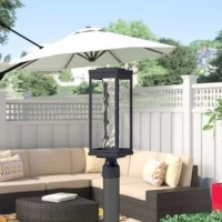 Post lights are a traditional-style fixture meant for illuminating your homes outdoor environment. You can line your front walkway, or home driveway with them, or include them as part of your garden or patio. This one for example, is constructed of metal, in a black finish, with a clear textured glass shade, and is hardwired to your home. This luminary accommodates one LED lightbulb up to 12 W (bulb included). It measures 19.5'' x 6'' x 6''. It is also compatible with dimmer kits.