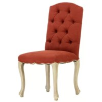 This Upholstered Dining Chair adds elegance to your dining room decor. This high-end chair features elegantly curved legs, a button-tufted back, and scalloped skirt that leaves this chair in a class of its own. This Chair is the perfect addition to creating your dream dining room.