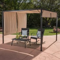 Transform your backyard, patio or garden into a place of mystery and romance with this covered 10 Ft. W x 10 Ft. D Steel Gazebo. Perfect for summer days when you are looking to avoid the sunlight but still enjoy your patio, this gazebo features shaded areas while still maintaining an open and airy feel to it.