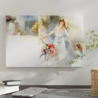 The artwork is crafted with 100% cotton artist-grade canvas, professionally hand-stretched and stapled over pine-wood bars in gallery wrap style, a method utilized by artists to present artwork in galleries. Fade-resistant archival inks guarantee perfect color reproduction that remains vibrant for decades even when exposed to strong light. Add brilliance in color and exceptional detail to your space with the contemporary and uncompromising style of East Urban Home. Including free hanging...