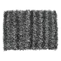 Anchor a serene design scheme in your bedroom with this Hand-Woven Silver Gray Area Rug. The neutral dark night color takes on any palette you mix with it, and the shaggy rug offers tactile comfort and sensory warmth.