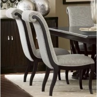 Sophisticated soft contemporary design is achieved in your dining room.