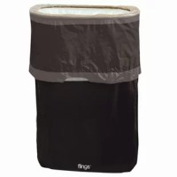 Clean up couldn't be quicker or easier with their Halloween trash can. This year don't bother trying to hide the trash can or worrying about leaking garbage bags, this plastic pop-up-bin stands on its own, is pleasant on the eyes, and is easy to clean. Just fling it open until the inner supports snap. The collapsible, reusable container has a printed plastic skirt and drawstring closure for easy storage.