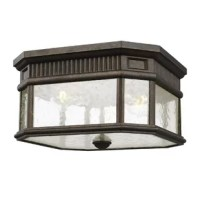 This outdoor flush mount in enhances the beauty of your property makes your home safer and more secure and increases the number of pleasurable hours you spend outdoors. The classic styling of this lighting collection features the look of dentil molding at the top of each pane of beveled glass which adds to the more formal, traditional aesthetic of this antique gas lantern-inspired collection. The LED option features advanced, warm-on-dim LED technology that warms in color when dimmed, going...