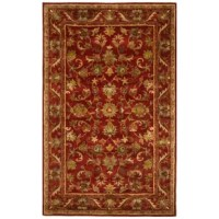 The elegant designs and rich colors of these rugs are inspired by 19th-century antique Persian rugs. A special herbal wash gives these rugs their luster and an aged patina.