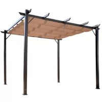 This outdoor pergola gazebo by Outsunny is the perfect addition to any residential or commercial space. Create an inviting outdoor dining space for your bistro or backyard. The retractable canopy top allows you to create an open-air feel or protect your guests from harmful UV rays. Adjust the canopy top as you desire to enjoy the sunshine or rest in shade. Add outdoor furniture to create an amazing private space you and your guests can enjoy all summer long without the risk of overexposure to...