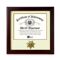 This Sheriff Medallion Certificate Frame is designed to hold a single 8