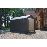 This shed has a small footprint and big value when space is at a premium. Great for storing garden tools, mowers, snow blowers, snowmobiles, ATVs, pool items, or anything you need to store out of sight. It is designed for use in every season and can protect your equipment from sunlight, rain, tree sap and more. Win back garage space with an affordable storage solution.