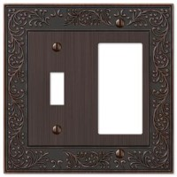 Made from cast metal, this stylish Chanhassen 2-Gang Toggle Light Switch / Rocker Combination Wall Plate adds simple elegance to your decor. Decorating with wall plates is an economical way to make a great impact in your home.