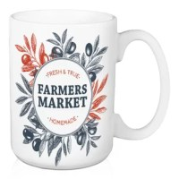 Drink your morning cup of coffee or tea in this ceramic mug with a trendy typography design. Featuring large handles for easy gripping, this mug was designed and printed in the USA and is dishwasher and microwave safe. The result is the perfect gift for a loved one.