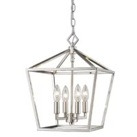 This 4-Light Lantern Pendant serves as both an excellent source of illumination and an eye-catching decorative fixture.