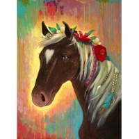 This Bohemian Horse is an equine flower child. Shop Angela Donato's collection for more likable canvas wall art.