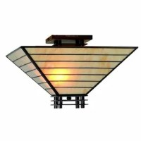 Handcrafted using the same techniques that were developed by Louis Comfort Tiffany in the early 1900s. Tiffany style Jace semi-flush ceiling fixture is sure to brighten your home decor. Elegant lighting is sure to dress up any room in your home or office.