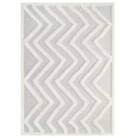 Make a sophisticated statement with this Abstract Chevron Area Rug. Patterned with a fun modern design, this rug is a durable machine-woven polyester and chenille shag rug that offers wide-ranging plush support. Complete with a jute bottom, distinctive high-low texture, and a soft. This rug enhances traditional and contemporary modern decors while outlasting everyday use. Featuring a lively zig-zag pattern, this area rug with a high-density weave and cozy feel is a perfect addition to the...
