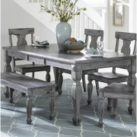 An updated look for the casual country inspired dining space.