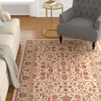 Looks aside, area rugs help absorb and decrease noise as they soften the step of hardwood and tile flooring. Made in Egypt, this one is constructed from polypropylene, a popular material in rug production due to its high resistance to stains, fading, and moisture. It features a 0.39