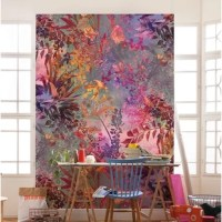With brilliant purple, pink and green hues, this Wild Garden 4.2' L x 36