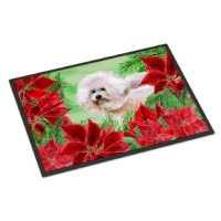 This door mat is made and printed in the USA. A black binding tape is sewn around the door mat for durability and to nicely frame the artwork. The door mat has been permanently dyed for moderate traffic and can be placed inside or out (only under a covered space). The back of the door mat is rubber backed to keep the door mat from slipping on a smooth floor.