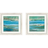 Give an empty entryway wall or spare space over the sofa some sprucing up with this 'Tidal Pool II' 2 Piece Acrylic Painting Print Set.
