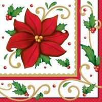 Let it bloom, let it bloom, let it bloom. Christmas isn't just a time of barren snowfields, it's also a time of beautiful poinsettias and the napkin. Each Christmas 6.5