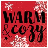 The best part of Christmas is getting comfortable in front of a fire and now you can bring that feeling to your table with the napkin. Each red napkin features the message