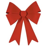 Now you can make anything a present when you attach this bow! This beautiful bow features a double bow with a double-pointed ribbon. Hang this bow outdoors on a tree, porch, or front door, or indoors on a banister, wall, or even a Christmas tree. It can even be attached to a wreath or a large present.