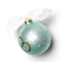 Vows are a time-honored tradition that signifies that love and bond between the two people who are about to be married. The glass ornament commemorates the moment in life where you expressed your love for that special someone in front of your friends and family. Each ornament is perfectly packaged with a matching gift box and coordinating tied ribbon for easy gift giving and safe storage.