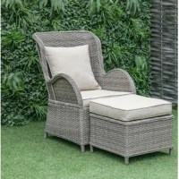 This Patio Chair with Cushion not only makes your outdoor life more comfortable but also make your garden more beautiful with its fashionable and modern style. It is made of an all-weather wicker material and aluminum frame, which is sturdy and can serve you for a long time. The seat, ottoman, and pillow cushions are made from durable Olefin fabric against sunlight, water, and mildew. This Patio Chair with Cushion will offer luxurious and attractive outdoor seating to friends and family looking...