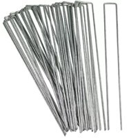 These garden staples are a must-have for securing landscape fabric, plastic, fence bottoms, dog fences, plants, canopies tarps on top of many more uses. Engineered to last, their galvanized steel construction makes the staples durable and resistant to rust. The U-shape design with the sharp bottoms make the staples easy to insert into the ground.