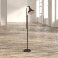 When natural light just isn't enough, a floor lamp is a perfect solution. Stylish too, this lamp brings a hint of vintage industrial character to any room of the house. Its base and classic dome shade are crafted from metal and awash in an aged zinc finish, giving it a rugged-yet-refined look. Plus, its height can be adjusted from a minimum height of 56