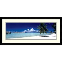 Soothe your senses all year long with the rich, tropical hues of this exotic color photography. Custom framed by designers, this piece features both frame and mat selections that have been hand-chosen to enhance the artwork.