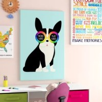 Don't let a bare wall get the better of your home! Adding a piece of wall art like this is a great option for brightening up your space with a striking accent, while also showing off a touch of your personal style. Perfect for a touch of whimsy on your walls, this piece features a black and white dog wearing rainbow sunglasses that read