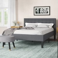Perfect for contemporary and modern bedrooms, the Mornington Upholstered Platform Bed Frame is not only stylish but functional as well. The Mornington is constructed from metal tubing that is not only strong but lightweight and long-lasting and headboard comes upholstered with a button-tufted fabric that is soft to the touch.