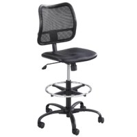 It's the Active Vandermark chair. It is as breathable as it is beautiful. Resilient, sleek mesh extended-height chair. Comfortable, ergonomic, height-adjustable seat for all-day comfort that prevents fatigue. It comes in an attractive black mesh fabric back with an acrylic black fabric seat.