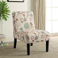 Defined by the low profile and petite frame, slipper chairs are perfect for offering to seat in smaller spaces or laying out clothes in an unused corner of the bedroom. Plus, they add style to any arrangement. Take this piece, for example, founded atop four black-finished legs, its hardwood frame is padded with foam and upholstered with patterned polyester-blend fabric for an approachable and eye-catching look.