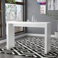 Pub tables are perfect for bar areas, or dining areas short on square footage. Take this table for example, in a neutral white hue that can blend in with most color palettes, and you can pair it with your choice of pub chairs or bar stools. Perfect for modern or contemporary aesthetics, this rectangular table is constructed from manufactured wood, in a white finish. The inside dimensions are 33