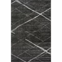 Lend any layout a touch of modern minimalism by rolling out this on-trend area rug, showcasing a geometric pattern in neutral gray hues for understated appeal. Machine-woven in Turkey from 100% polypropylene with a low 0.43