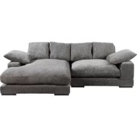 This low-slung sectional showcases a contemporary look that works with a variety of aesthetics, adding both style and substance to your space! Its square arms, squashy cushions, and modular design create a clean-lined silhouette that gives your living room a tailored update. Founded atop a eucalyptus and plywood frame, it's upholstered with foam and polyester cushioning and 100% polyester fabric in a solid neutral hue.