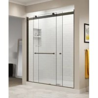 With its sleek header, it adds a modern touch to your shower enclosure. This door features to roll design and uses two rollers and an anti-jump mechanism to ensure smooth opening and closing. Crafted from ultra-durable safety-tempered glass, the two thick heavy-cut clear glass panels beautifully showcase the interior of your shower. The reflective, lustrous chrome finish and sleek, gently curved towel bar add to the door's contemporary appeal. And thanks to its precise panel fitting, this...