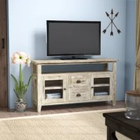 Give your living room a rustic refresh with this TV stand, sized to accommodate flat-screens up to 55