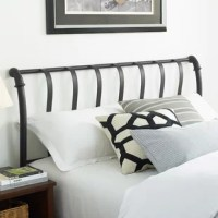 The timeless sleigh bed design just upgraded in metal for a dainty, effortlessly chic design in their Slat Headboard. Slightly arched to give the sleigh bed look, this design is accented in metal with a textured charcoal finish. This design allows you to style this bed in many different decors from traditional to on trend. This design consists completely of steel materials, features beautiful welding and flat strap spindles.
