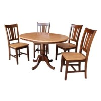Ontiveros 5 Piece Extendable Solid Wood Dining Set