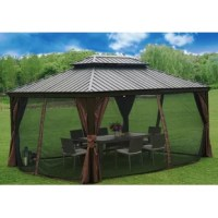 Introduce the glamour and comfort of a resort experience into your everyday life. The Alexander 16' Ft. W x 12' Ft. D Aluminum Patio Gazebo elevates your backyard, or other outdoor space, adding an element of comfort and sophistication that's certain to impress your guests. The classic design adapts well to many styles of patio furniture.
