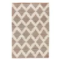 This Aldred Lake Hand-Woven Gray Area Rug offers rustic charm and global inspiration with a natural hemp construction. A Moroccan tile-inspired trellis design creates an eye-catching pattern, lending chic contrast in white and neutral heathered gray.