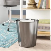 The Trash cans are sized perfectly for smaller space, but still have plenty of room for your recyclables and garbage, made of high-quality durable materials these dustbins will hold up to everyday use. These garbage bins can be used for trash recycling or storing items. The beautiful slim round design combined with the shiny mirror finish, making them the perfect compliment to any home.